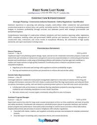 Contractor And Construction Resume Samples