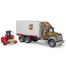 Bruder Toys Pretend Play MACK Granite UPS Logistics Truck W ...