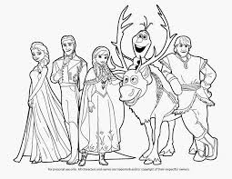 Beautiful Disney Frozen Coloring Pages