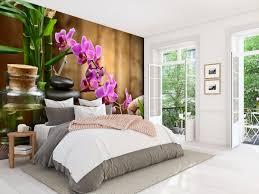 fototapete spa steine öl bambus rosa orchideen fototapeten tapete wandbild wellness kerze m4816