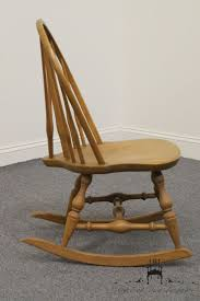 Nichols And Stone Windsor Rocking Chair by Nichols U0026 Stone Co Bowback Windsor Maple Rocking Chair Ebay