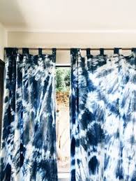 shibori curtains pair of sheer cotton voile curtain panels