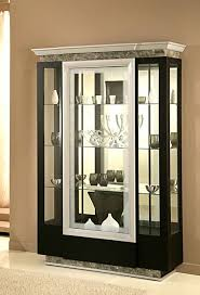 glass display cabinet lavamar deco wenge modern