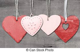 Valentines Day Love Heart On Rustic Style Background