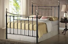Brass Beds Of Virginia by Bronte Black Metal And Brass Bed Frame By Birlea 5ft Kingsize With