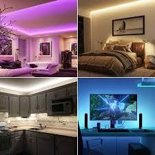 le led 5m led streifen mit musik ip20 smart rgb lichtband nur 2 4ghz wifi led leiste lichterkette für haus küche tv led band