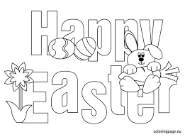 Happy Easter Printable Bunny Coloring Pages