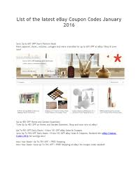 List Of The Latest Ebay Coupon Codes January 2016 By Emma ... Sephora Canada 2019 Chinese New Year Gwp Promo Code Free 10 April Sephora Coupon Promo Codes 2018 Sales Latest Clinique September2019 Get Off Ysl Beauty Us Code Mount Mercy University Ebay Coupon Codes And Deals September Findercom Spend 29 To Get Bonus Uk Mckenzie Taxidermy Code Better Seball Coupons Iphone Upgrade T Mobile Black Friday Deals Live Now Too Faced Clinique Pressed Powder Makeup Compact Powder 04
