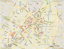 Los Angeles Downtown Street Map