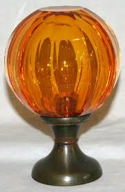 amber crystal brass newel post finial decorating pinterest