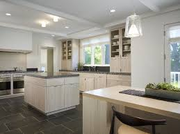 Modern Vinyl Flooring Kitchen White Washed Cabinets With Counter Stools Glass Front Additional Glamorous Color