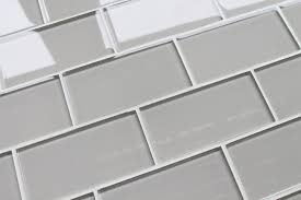 country cottage light taupe 3x6 glass subway tiles rocky point