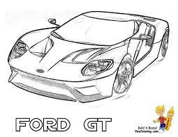 Ford Coloring Pages Fierce Car Cars Free Mustangs T Bird For Kids