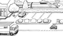 Stunning Train Station Coloring Pages With Page And Free Printable