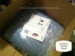 Bean Bag Bed Shark Tank by Faith And Family Reviewscordaroy U0027s Beanbag Bed Review Faith And