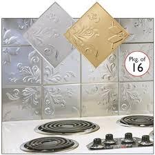 self adhesive decorative copper embossed floral design tin tiles