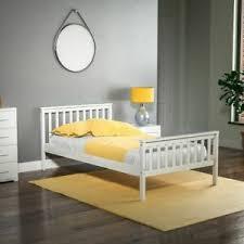 details zu holz bett gestell einzel 96 cm hohes fußteil kopfteil modern schlafzimmer möbel