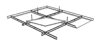 rockfon planostile lay in metal panel ceiling system rockfon