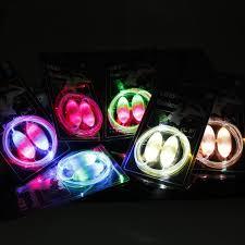 new 2nd led light up shoes shoelaces flash glow stick lighting