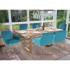 details zu 6x esszimmerstuhl hwc f37 stuhl küchenstuhl retro samt goldene füße petrol