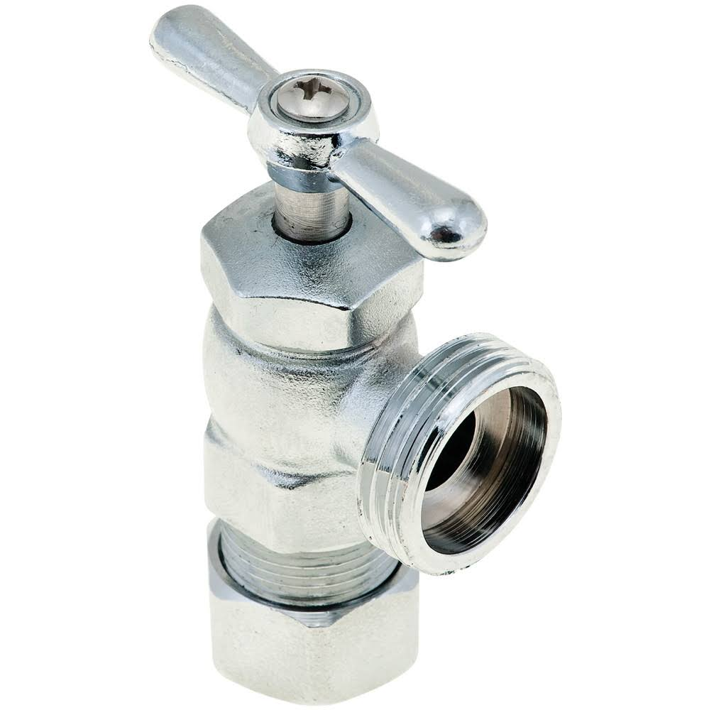 Proplus 262163 Washing Machine Valve Compression - Chrome Plated, 1/2""