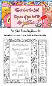 Free Coloring Page And Bible Journal Margin Strip Fits Illustrated Faith Praise Book