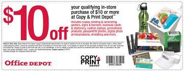 fice Depot $10 f a $10 Copy & Print Depot Purchase Coupon