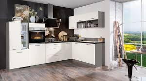 l küche moon express mit front in matt weiß