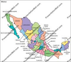 Map Of Mexico Editable Vector Illustrator PDF And WMF