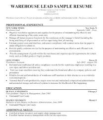 Warehouse Resume Examples Sample For Worker Resumes Of Free Position Qualifications Skills Customer Service