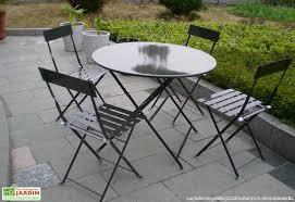 table de jardin ronde metal table jardin bois exotique maisondours
