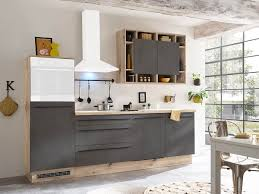 küchenzeile ohne elektrogeräte 270 cm matt beton linus