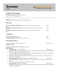 Sample Resume Objectives For Elementary Teacher New Confortable Objective Teaching Your Of