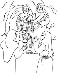 Jesus Raises Lazarus Luke 10 John 11 From Thru The Bible Coloring Pages