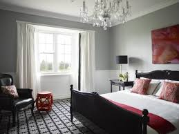 Charming Grey Bedroom Walls For Vibrant Design Trendy Ideas Pink Accents Leather