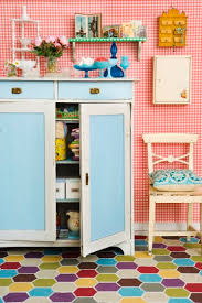 This Kitchen Looks Like Its Straight From The Fairytale Three Bears Fun Hex Tile Colorful DecorQuirky