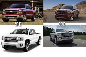 Visual Side-by-side Comparison Of 2016 Chevy/GMC Truck Update : Trucks Gmc Comparison 2018 Sierra Vs Silverado Medlin Buick 2017 Hd First Drive Its Got A Ton Of Torque But Thats Chevrolet 1500 Double Cab Ltz 2015 Chevy Vs Gmc Trucks Carviewsandreleasedatecom New If You Have Your Own Good Photos 4wd Regular Long Box Sle At Banks Compare Ram Ford F150 Near Lift Or Level Trucksuv The Right Way Readylift 2014 Pickups Recalled For Cylinderdeacvation Issue 19992006 Silveradogmc Bedsides 55 Bed 6 Bulge And Slap Hood Scoops On Heavy Duty Trucks