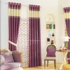 lässig romantik leinen lila schlafzimmer gardinen