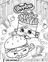 Shopkins Cheddar And Fries Coloring Pages