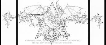 Star Goth Dragon Tattoo Inked By Biomechlizardchick On DeviantArt