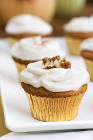 Sweet Potato Pecan Cupcakes With Cream Cheese Frosting