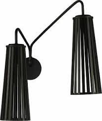 details zu wandle schwarz wandleuchte holz schirm verstellbar schlafzimmer 2 flammig