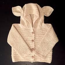 lamb u0027s ear baby cardigan crochet pattern little monkeys designs