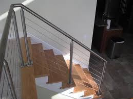 Stainless Steel Cable Railings Made With Round Pipe. The Railing ... Stainless Steel Cable Railing Systems Types Stairs And Decks With Wire Cable Railings Railing Is A Deco Steel Guardrail Deck Settings And Stalling Post Fascia Mount Terminal For Balconies Decorations Diy Indoor In Mill Valley California Keuka Stair Ideas Best 25 Ideas On Pinterest Stair Alinum Direct Square Stainless Posts Handrail 65 Best Stairways Images Staircase