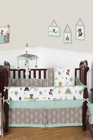 outdoor adventure nature baby bedding 9 piece crib set by jojo designs