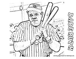 Babe Ruth Baseball Player Coloring Page At YesColoring