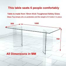 Standard Table Height Size Dinning Person Dining Dimensions