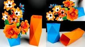 0226 How To Make Simple Easy A Paper Vase At Home