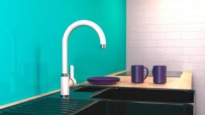 spültischarmatur diziani wasserhahn küche 360 schwenkbar ideal auch für doppelspülbecken chrom weiß