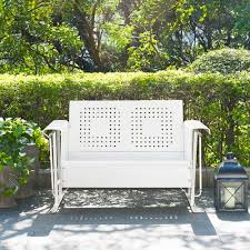 Veranda Metal Patio Loveseat Glider by White Outdoor And Patio Furniture Bellacor